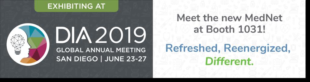 Visit MedNet at Booth #1031 at DIA 2019
